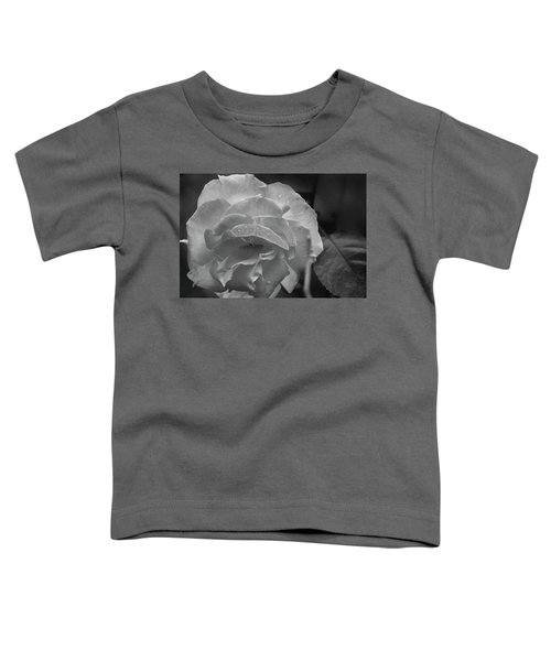 Rose In Black And White Toddler T-Shirt