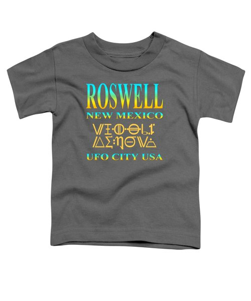 Roswell New Mexico Aliens Design - U. F. O. City U. S. A. Toddler T-Shirt