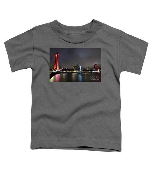 Rotterdam - Willemsbrug At Night Toddler T-Shirt