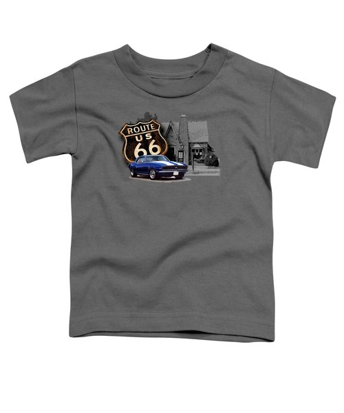 Route 66 Camaro At The Station Toddler T-Shirt