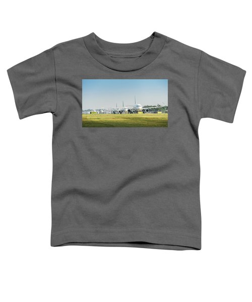 Row Of Airplanes Ready To Take-off Toddler T-Shirt