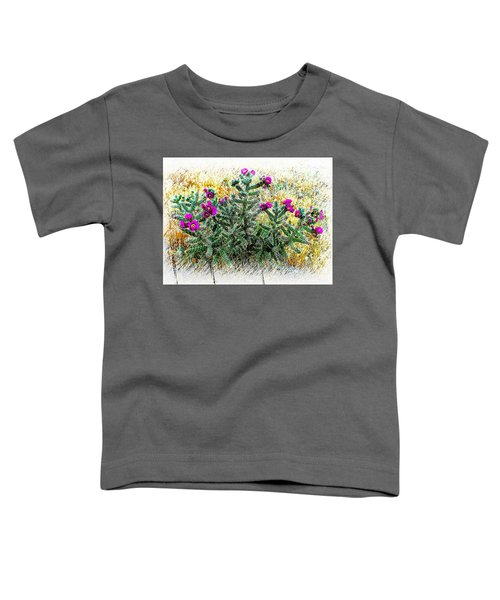 Royal Gorge Cactus With Flowers Toddler T-Shirt