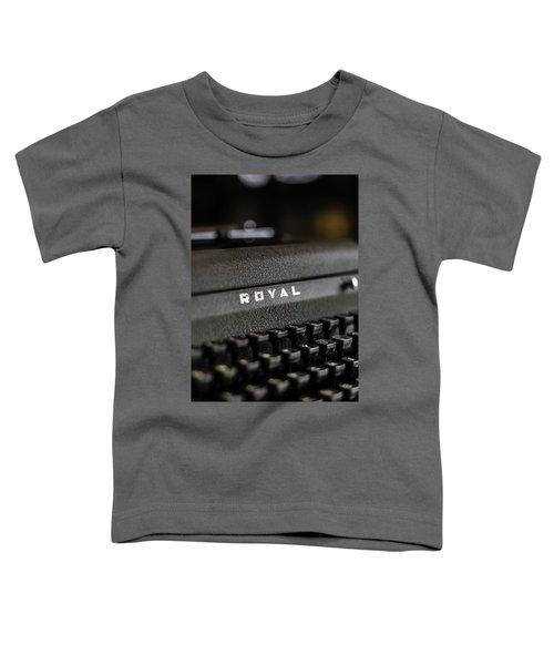 Royal Typewriter #19 Toddler T-Shirt