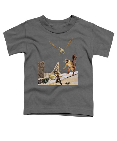 Running From My Problems Toddler T-Shirt by Methune Hively