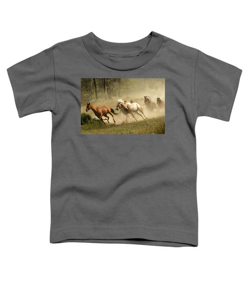 Running Horses Toddler T-Shirt