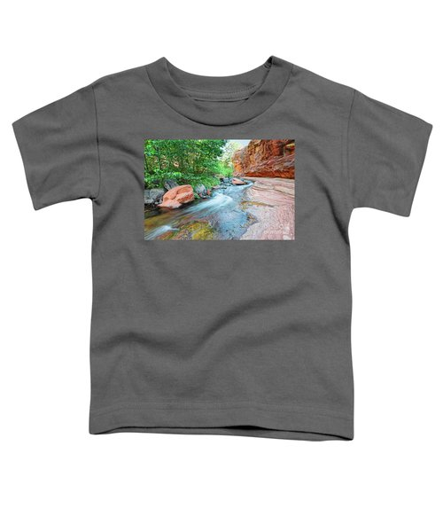 Rushing Waters At Slide Rock State Park Oak Creek State Park - Sedona Northern Arizona Toddler T-Shirt
