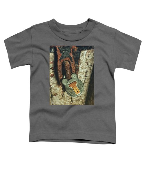 Toddler T-Shirt featuring the photograph Rusted Security by Andrea Platt