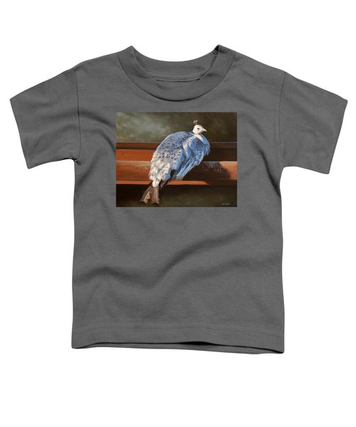 Rustic Elegance - White Peahen Toddler T-Shirt