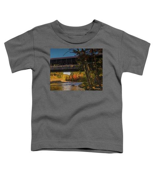 Saco River Covered Bridge Toddler T-Shirt