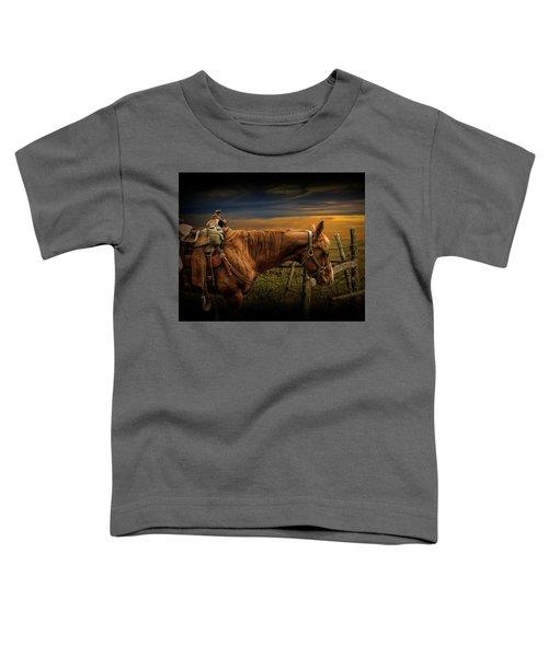Saddle Horse On The Prairie Toddler T-Shirt