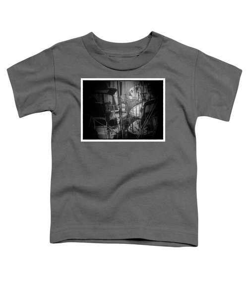 Sailboats Berthed In The Fog Toddler T-Shirt