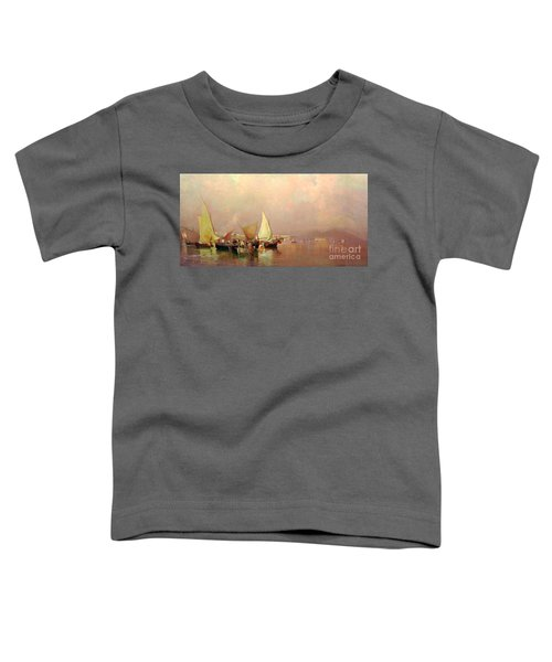 Sailing Fishermen Boats In Naples Toddler T-Shirt