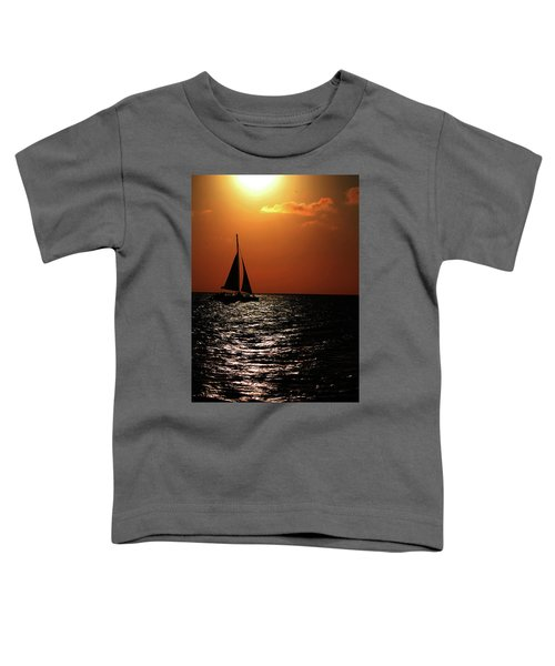 Sailing Into The Sunset Toddler T-Shirt