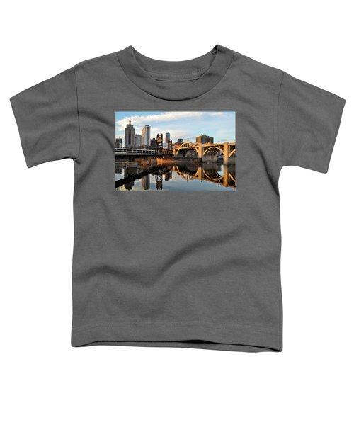 Saint Paul Mississippi River Sunset Toddler T-Shirt