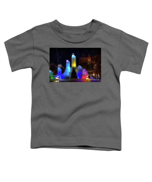 Saint Paul Winter Carnival Ice Palace 2018 Lighting Up The Town Toddler T-Shirt
