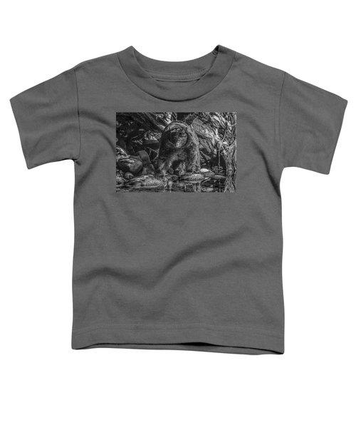 Salmon Seeker Black Bear  Toddler T-Shirt