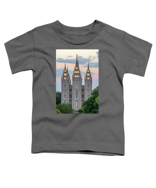 Salt Lake City Temple Morning Toddler T-Shirt
