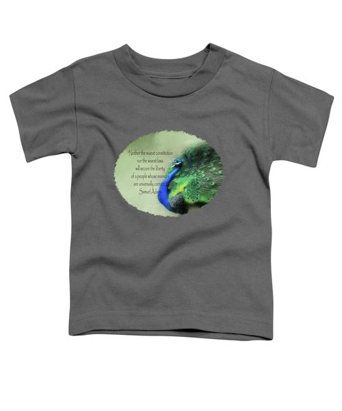 Samuel Adams - Quote Toddler T-Shirt
