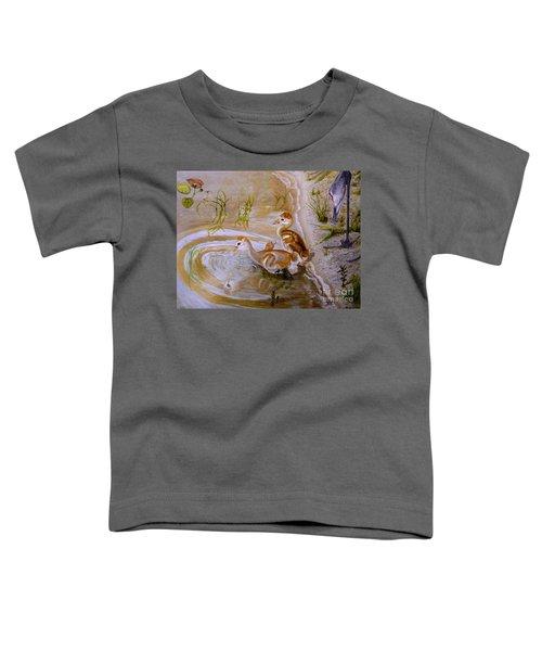 Sandhill Cranes Chicks First Bath Toddler T-Shirt