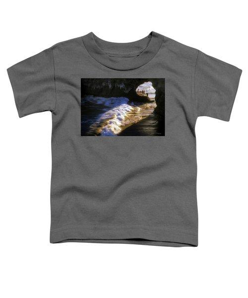Santa Cruz 'bridge' California Coastline Toddler T-Shirt