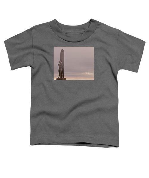Santa Cruz Santa Surfer  Toddler T-Shirt by Lora Lee Chapman