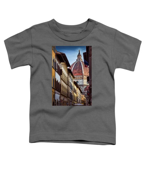 Santa Maria Del Fiore From Via Dei Servi Street In Florence, Italy Toddler T-Shirt