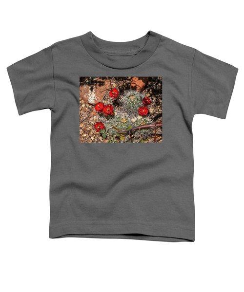 Scarlet Cactus Blooms Toddler T-Shirt