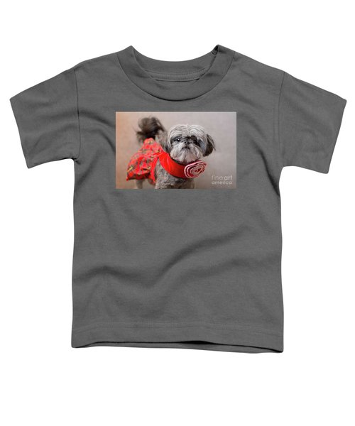 Scarlett In Christmass Dress Toddler T-Shirt