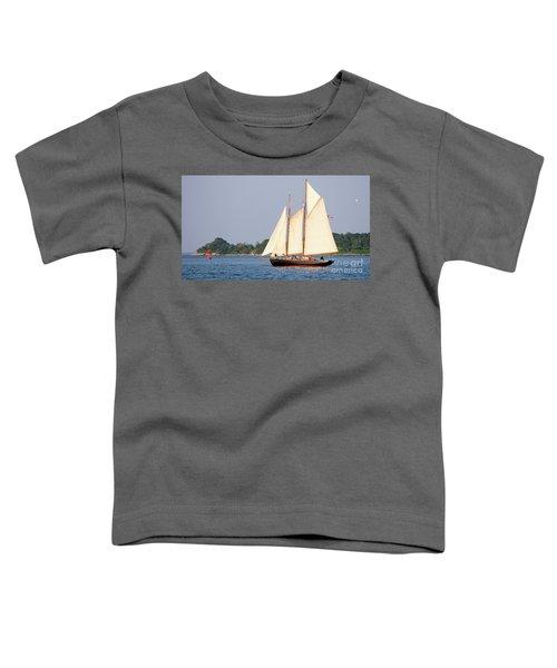 Schooner Cruise, Casco Bay, South Portland, Maine  -86696 Toddler T-Shirt
