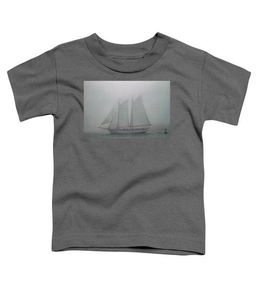 Schooner In Fog Toddler T-Shirt