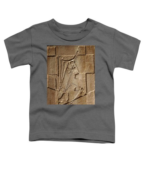 Sculptured Panel - Influenced By Picasso's Painting Having The Number 1 Toddler T-Shirt