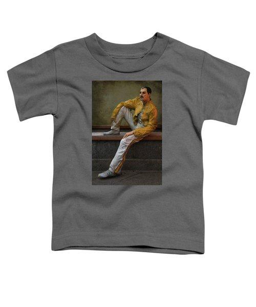 Toddler T-Shirt featuring the photograph Sculptures Of Sankt Petersburg - Freddie Mercury by Jaroslaw Blaminsky