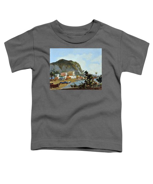Sea And Mountain With Boats Toddler T-Shirt