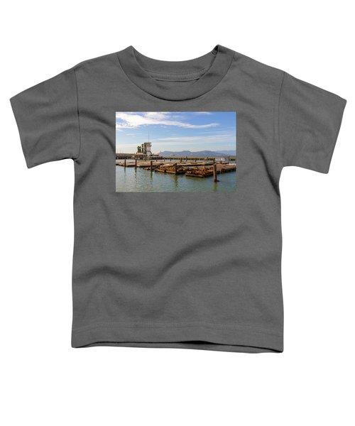 Sea Lions At Pier 39 In San Francisco Toddler T-Shirt