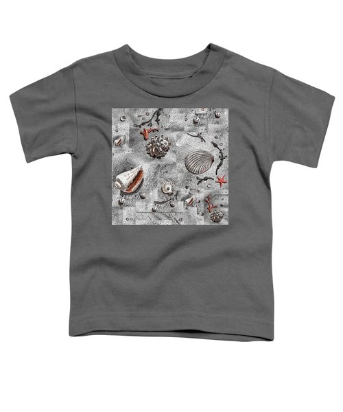 Seashells Collage Of Any Color Toddler T-Shirt