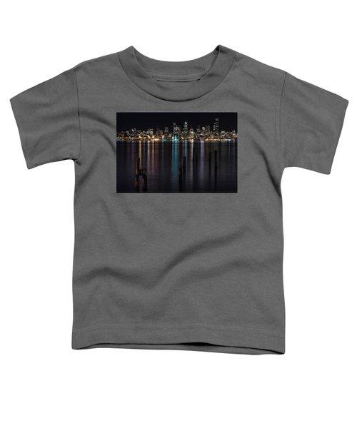 Seattle At Night Toddler T-Shirt
