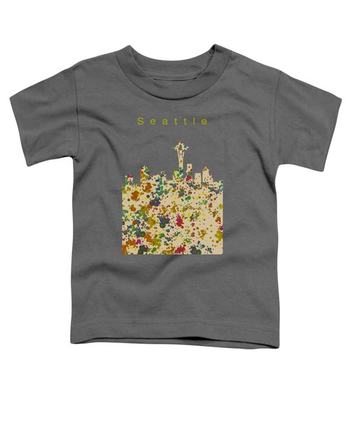 Seattle Skyline 1 Toddler T-Shirt by Alberto RuiZ