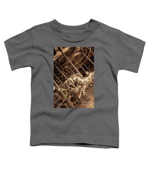 Sepia Carousel Horse Toddler T-Shirt