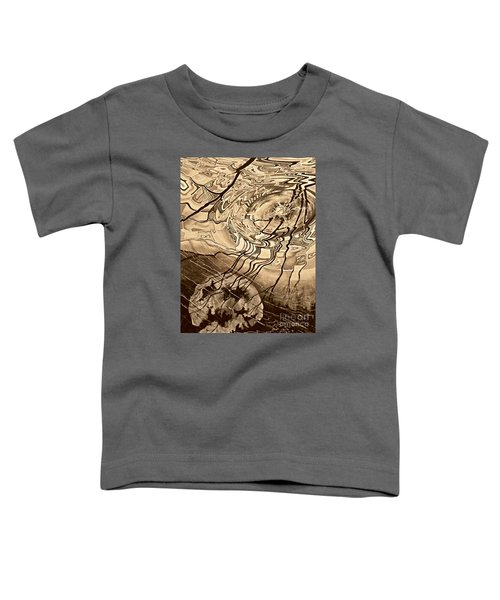 Sepia Ripples Toddler T-Shirt
