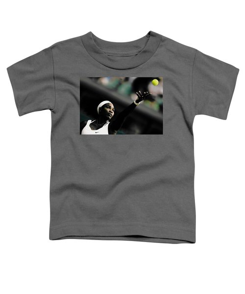 Serena Williams Commitment And Passion Toddler T-Shirt