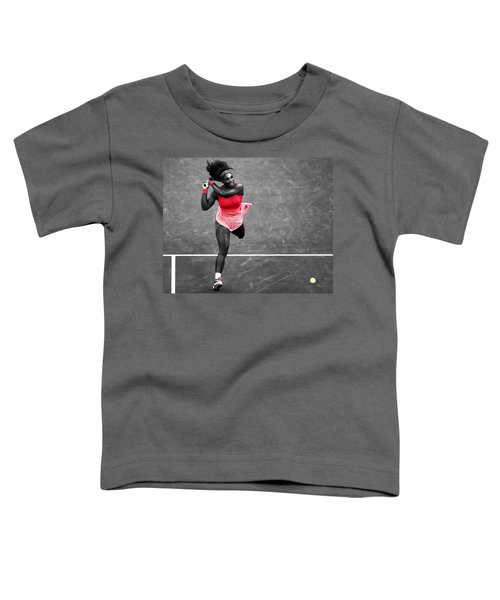 Serena Williams Strong Return Toddler T-Shirt by Brian Reaves