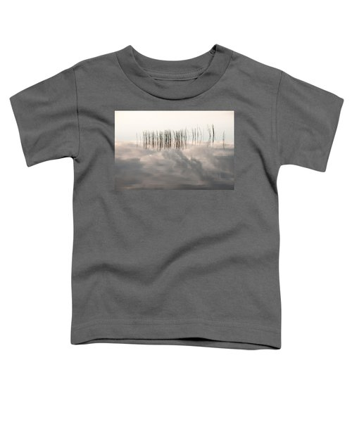 Serenity Dwells Here Where Tranquil Water Flow Cloaked  In Hues Of Love Toddler T-Shirt