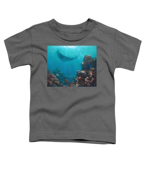 Serenity - Hawaiian Underwater Reef And Manta Ray Toddler T-Shirt