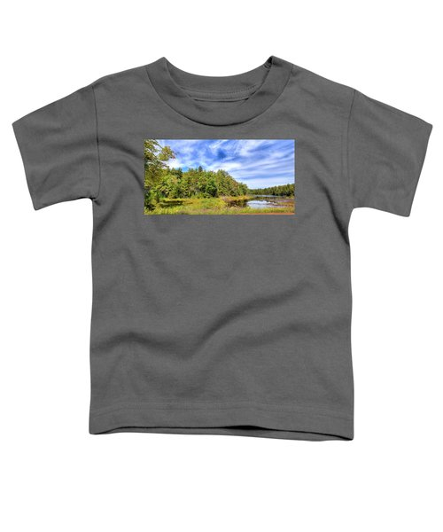 Toddler T-Shirt featuring the photograph Serenity On Bald Mountain Pond by David Patterson