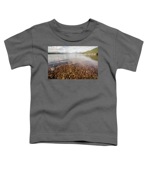 Setting Sun On Lake Mcdonald Toddler T-Shirt