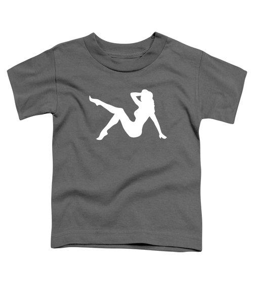 Sexy Trucker Girl White Tee Toddler T-Shirt by Edward Fielding