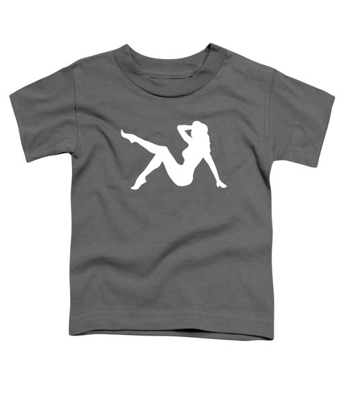 Sexy Trucker Girl White Tee Toddler T-Shirt