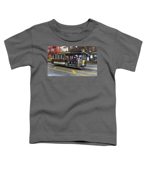 Sf Cable Car Powell And Mason Sts Toddler T-Shirt