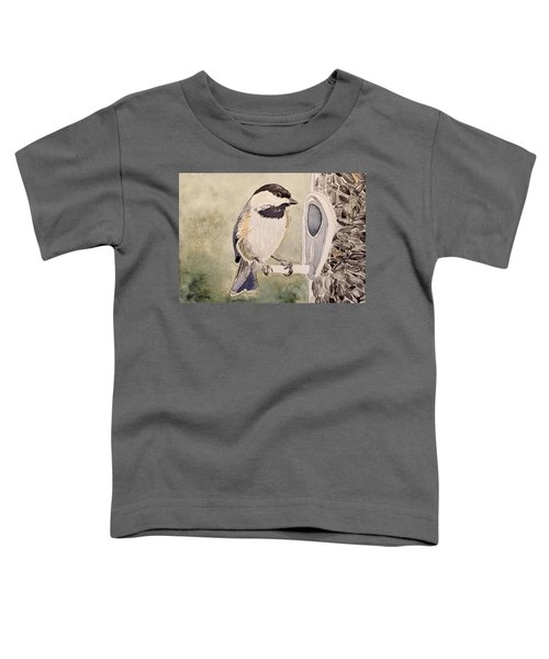 Shades Of Black Capped Chickadee Toddler T-Shirt