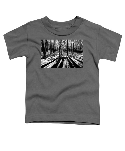 Shadows On The Snowy Landscape Toddler T-Shirt